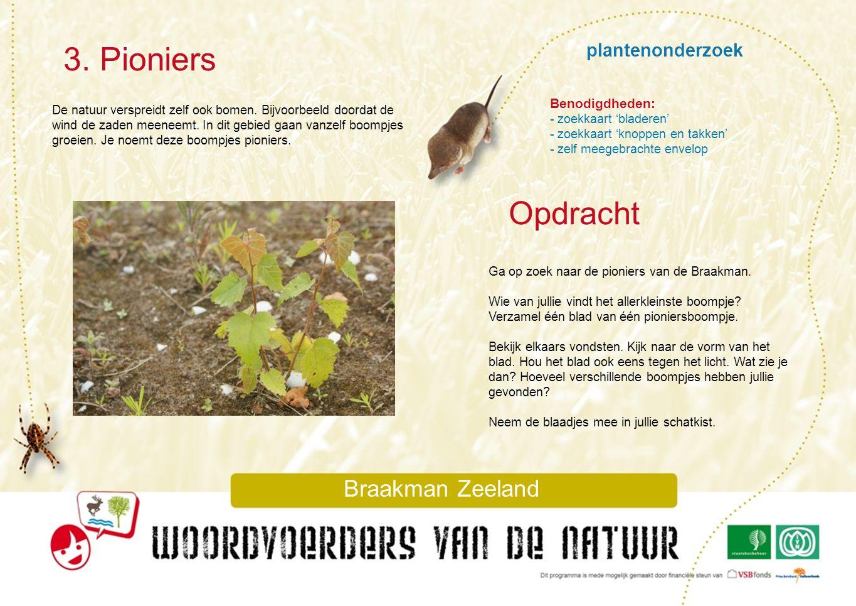 plantenonderzoek 3. Pioniers Braakman Zeeland De natuur verspreidt zelf ook bomen. Bijvoorbeeld doordat de wind de zaden meeneemt. In dit gebied gaan