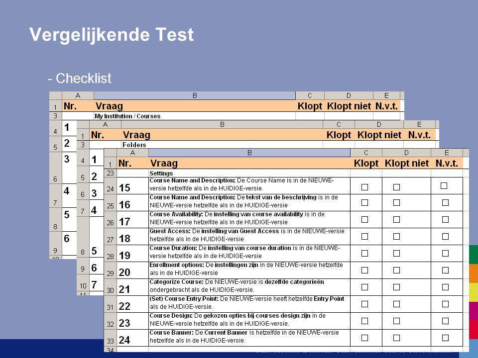 Vergelijkende Test - Checklist