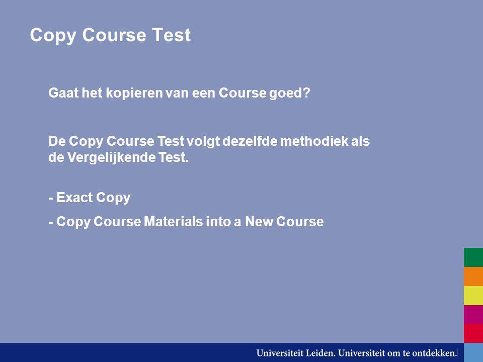 Copy Course Test Gaat het kopieren van een Course goed.