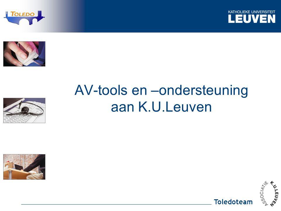 Toledoteam AV-tools en –ondersteuning aan K.U.Leuven