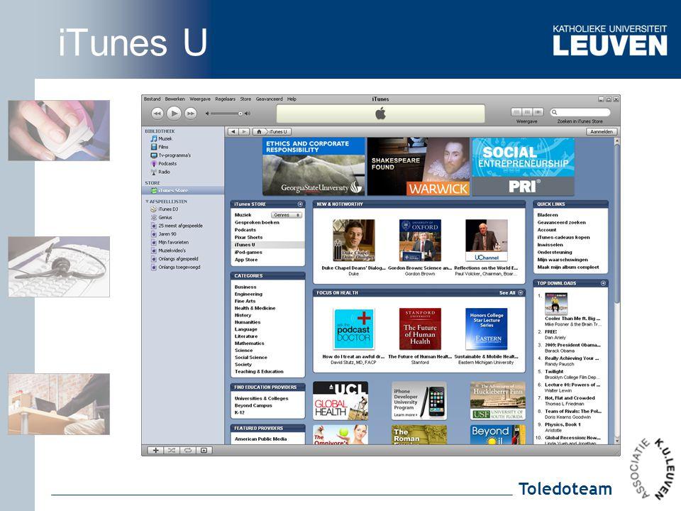 Toledoteam iTunes U
