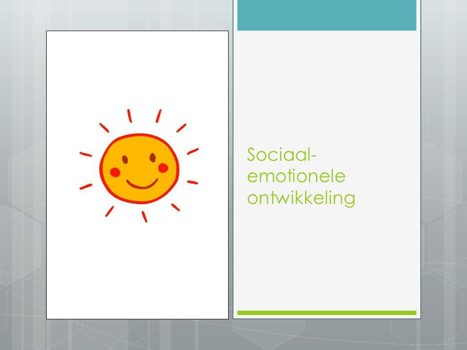 Sociaal- emotionele ontwikkeling