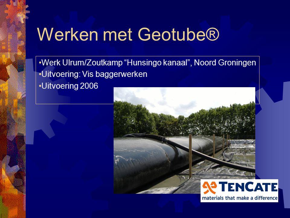 Geotube® vele toepassingen Eerste project 2001 Design Promeco Beek en Donk Totaal 20.000 m3, stadspark Eindhoven