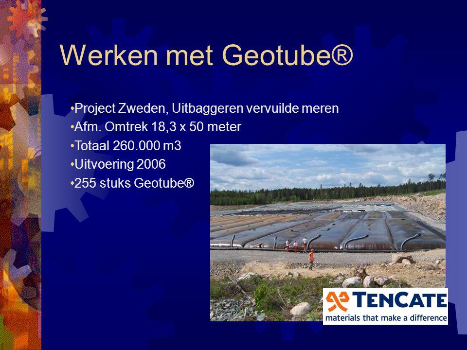 """Werken met Geotube® Werk Ulrum/Zoutkamp """"Hunsingo kanaal"""", Noord Groningen Uitvoering: Vis baggerwerken Uitvoering 2006"""