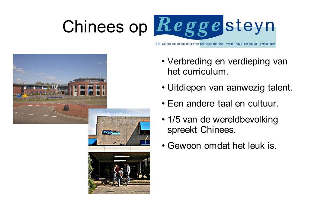 Chinees op Reggesteyn. Verbreding en verdieping van het curriculum.