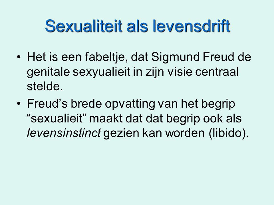 Sexualiteit als levensdrift Het is een fabeltje, dat Sigmund Freud de genitale sexyualieit in zijn visie centraal stelde.
