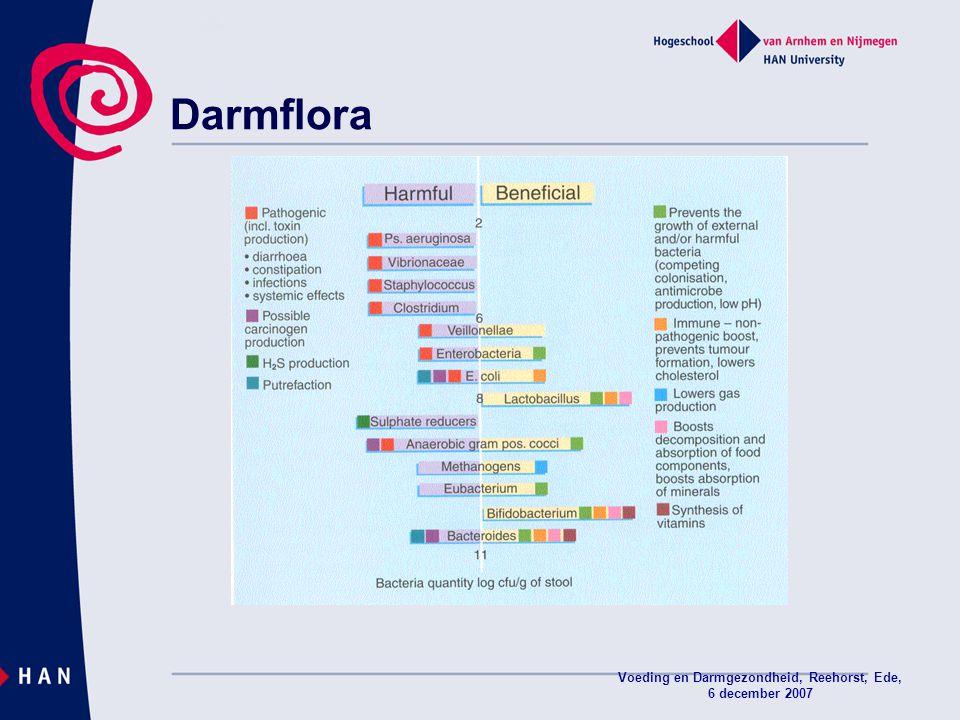 Voeding en Darmgezondheid, Reehorst, Ede, 6 december 2007 Darmflora