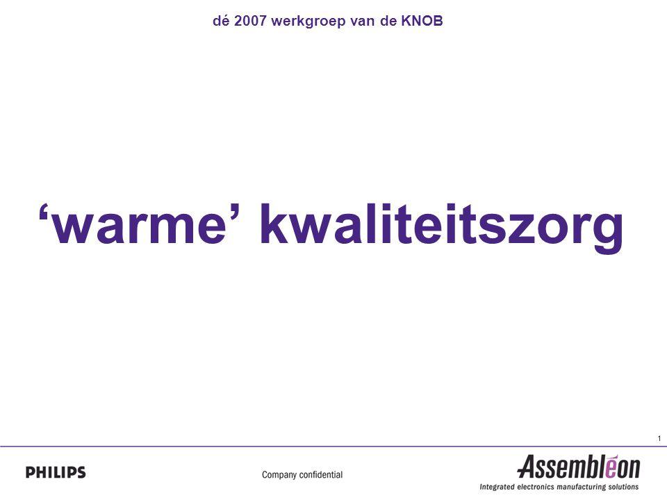 dé 2007 werkgroep van de KNOB 1 'warme' kwaliteitszorg