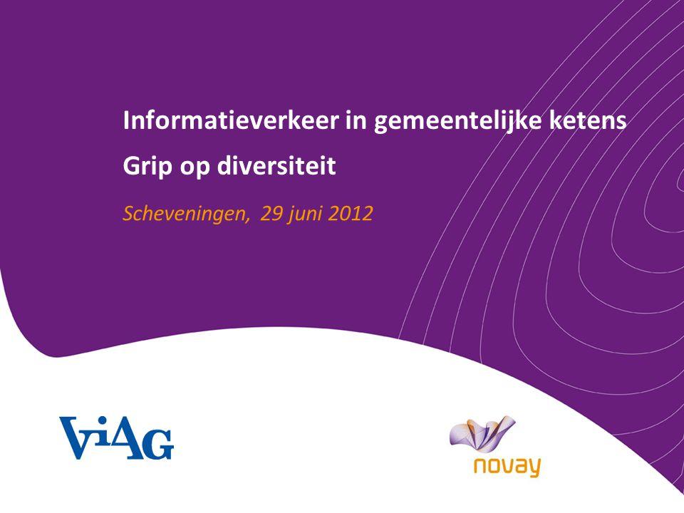 Informatieverkeer in gemeentelijke ketens Grip op diversiteit Scheveningen, 29 juni 2012