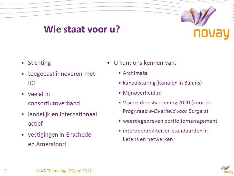 Wie staat voor u? Stichting toegepast innoveren met ICT veelal in consortiumverband landelijk en internationaal actief vestigingen in Enschede en Amer