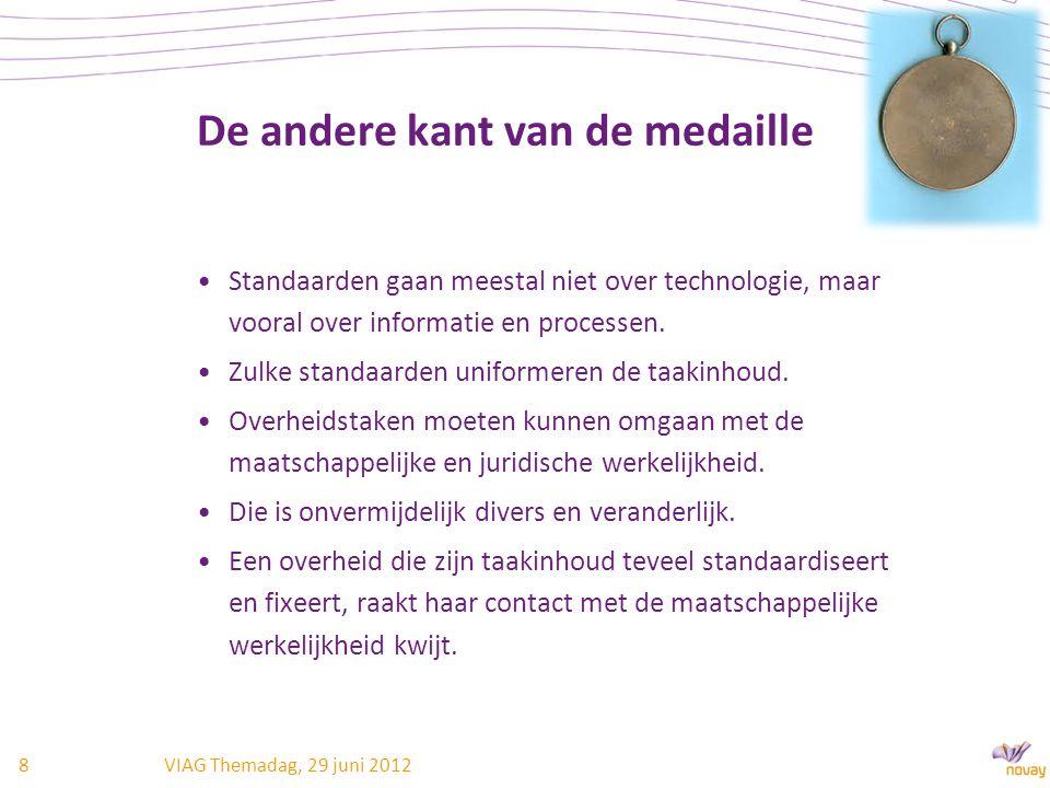 De andere kant van de medaille Standaarden gaan meestal niet over technologie, maar vooral over informatie en processen.
