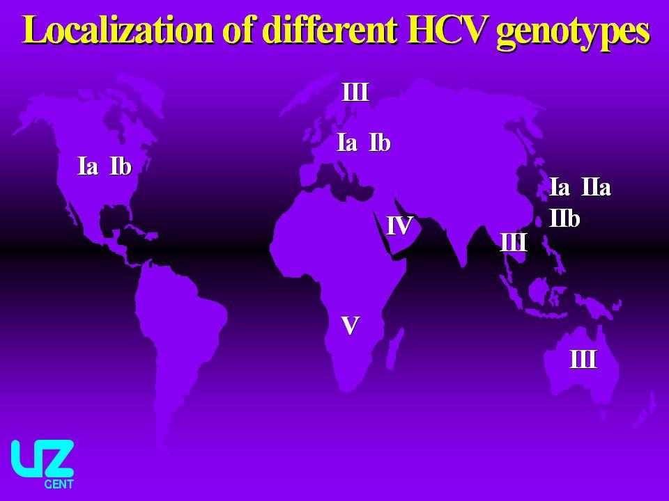 Dosis peg-IFN: peg-IFN alfa 2a (Pegasys): 180 µg SC 1x/week peg-IFN alfa 2b (Peg-Intron): 1.5 µg/kg/week SC Dosis Ribavirine (Copegus, Rebetol): * genotype 1, 4, 5: 1000 tot 1200 mg/d * genotype 2 en 3: 800 mg/d