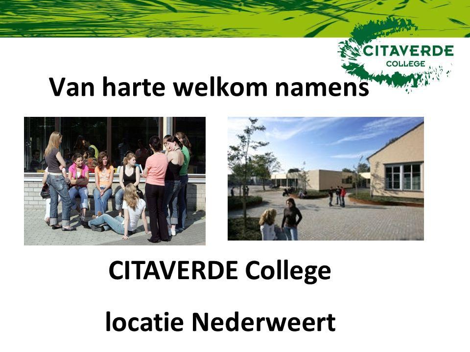 Van harte welkom namens CITAVERDE College locatie Nederweert