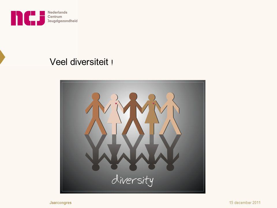 Veel diversiteit ! 15 december 2011Jaarcongres