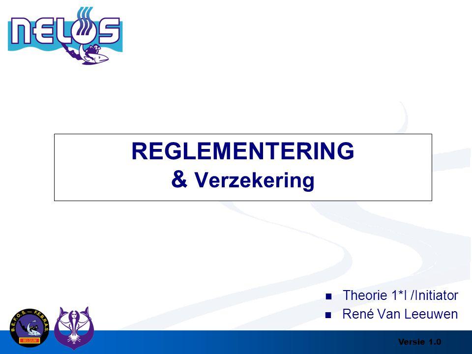 Versie 1.0 REGLEMENTERING & Verzekering Theorie 1*I /Initiator René Van Leeuwen