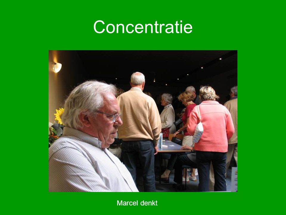 Concentratie Marcel denkt