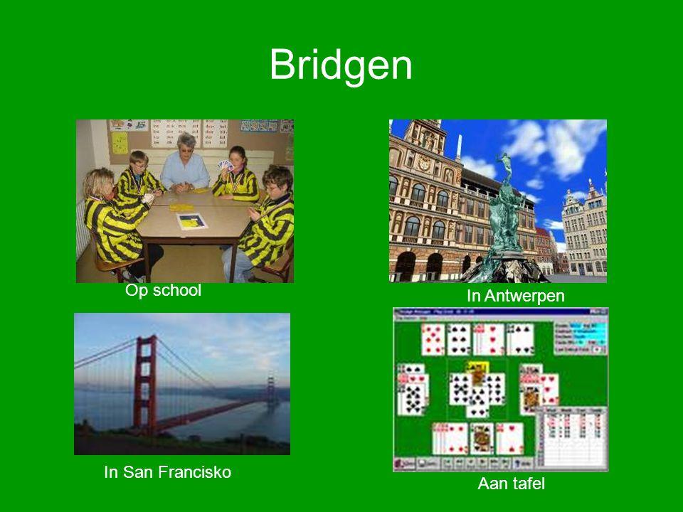 Bridgen Op school In Antwerpen In San Francisko Aan tafel