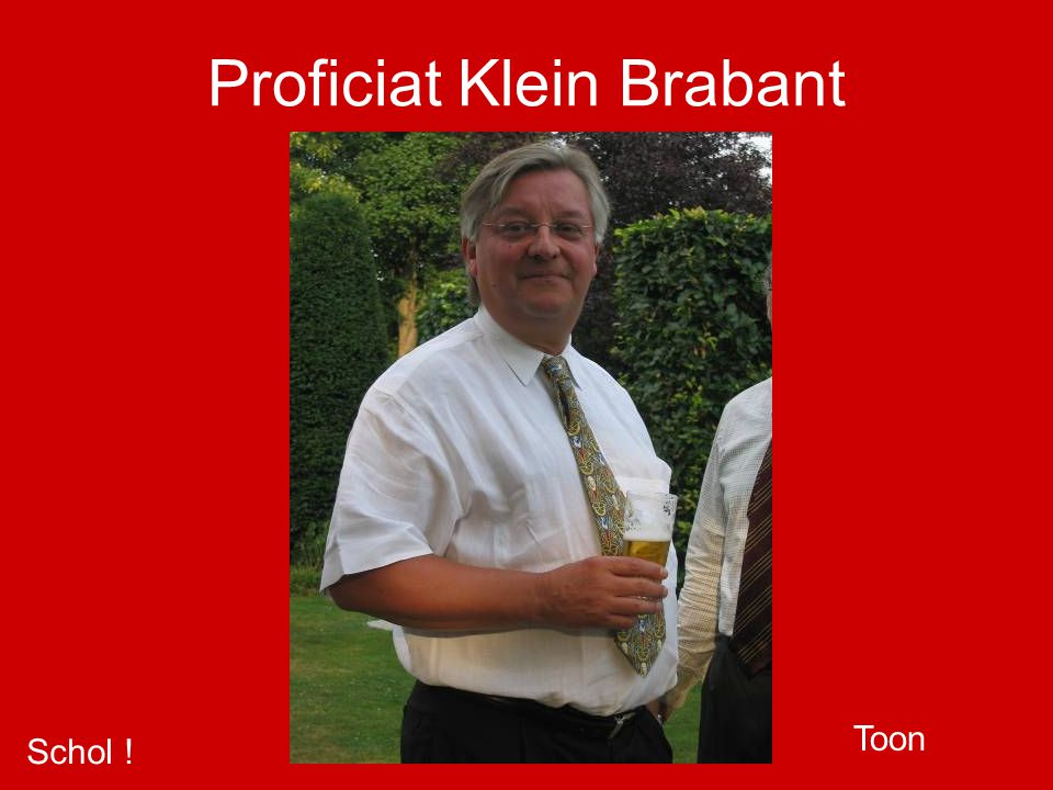 Proficiat Klein Brabant Schol ! Toon