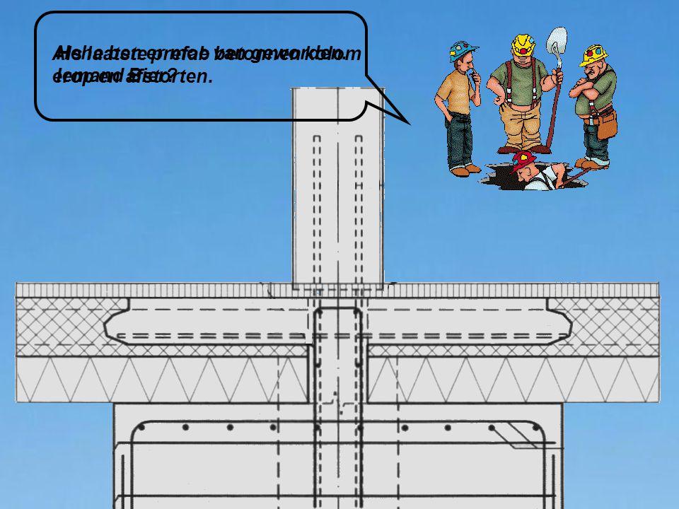 Als laatste prefab betonnen kolom erop en afstorten. Hehe ben er moe van geworden. Iemand Bier?