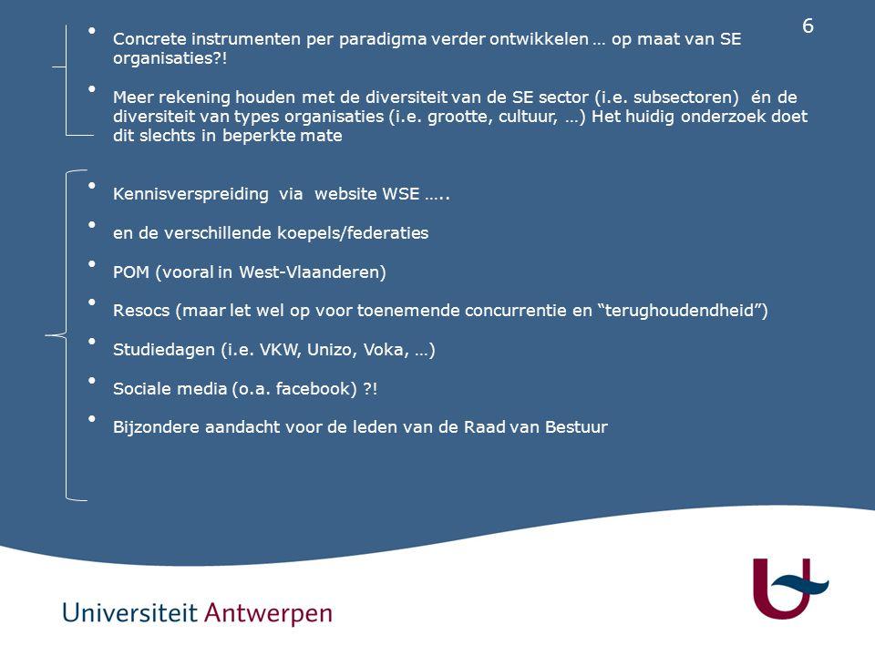 7 Rechtsvergelijking van de sociale economie onderneming in Europa Steunpunt werk en sociale economie Werkgroep 25 januari 2011 Astrid Coates – Universiteit Antwerpen