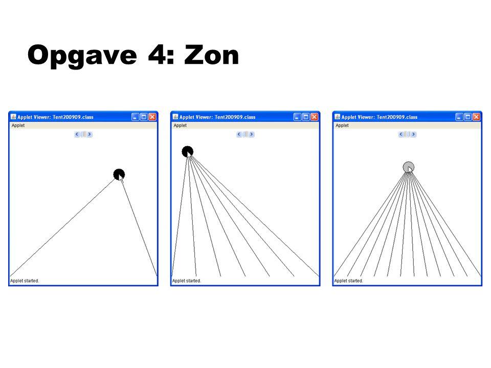 Opgave 4: Zon