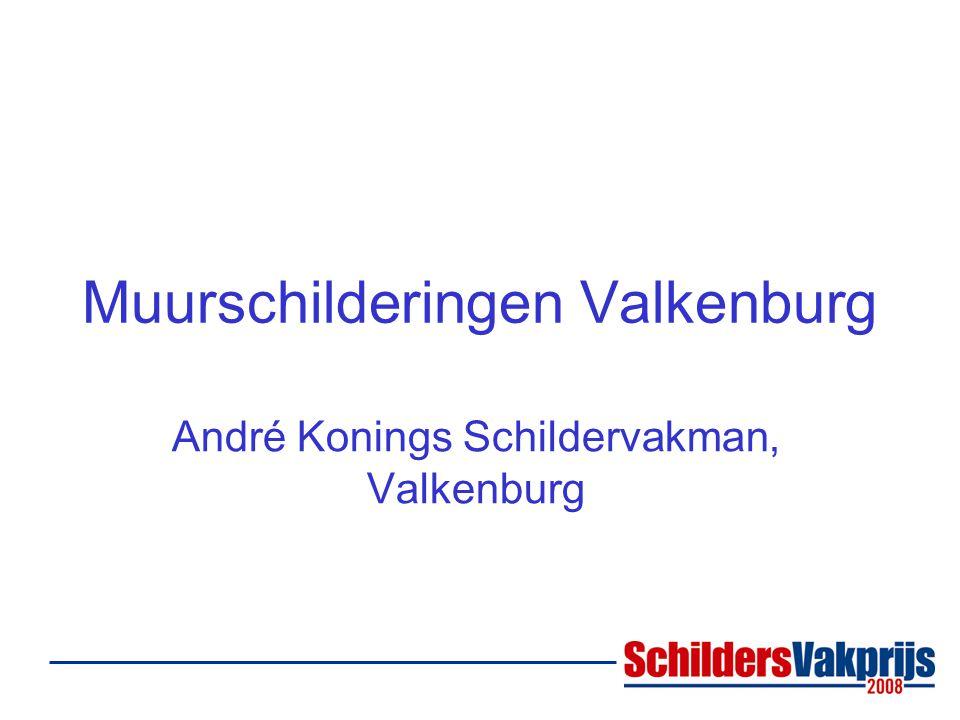 Muurschilderingen Valkenburg André Konings Schildervakman, Valkenburg