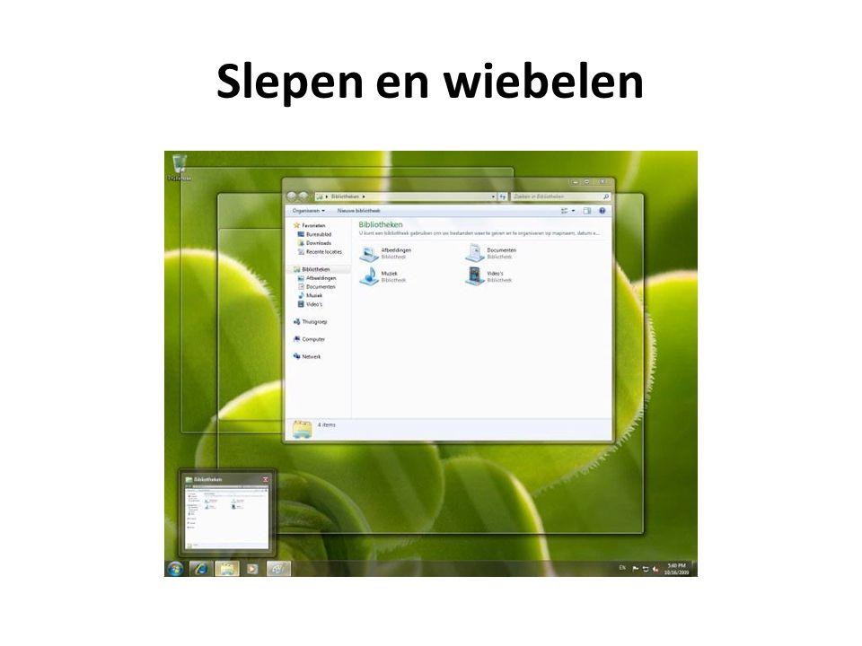 Startknop en afsluiten VISTAWindows 7