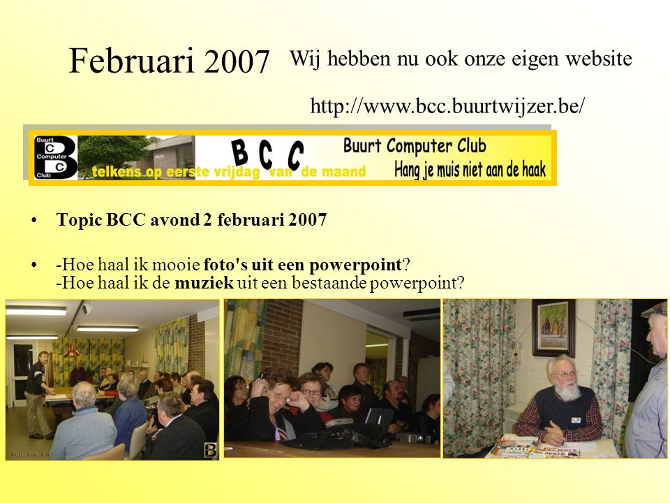 BCC december 2006 BCC januari 2007