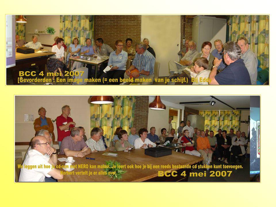 BCC De Garve 6 april 2007 Beginners : Zelf je eigen naamkaartjes maken .