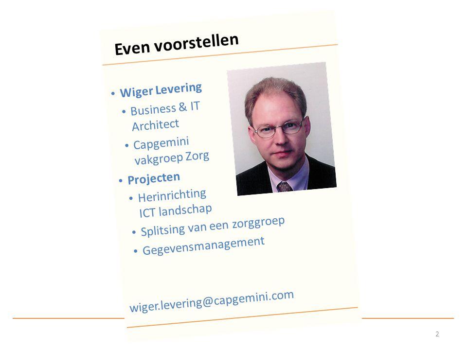 TOGAF - The Open Group Architecture Framework Men neme een architect...