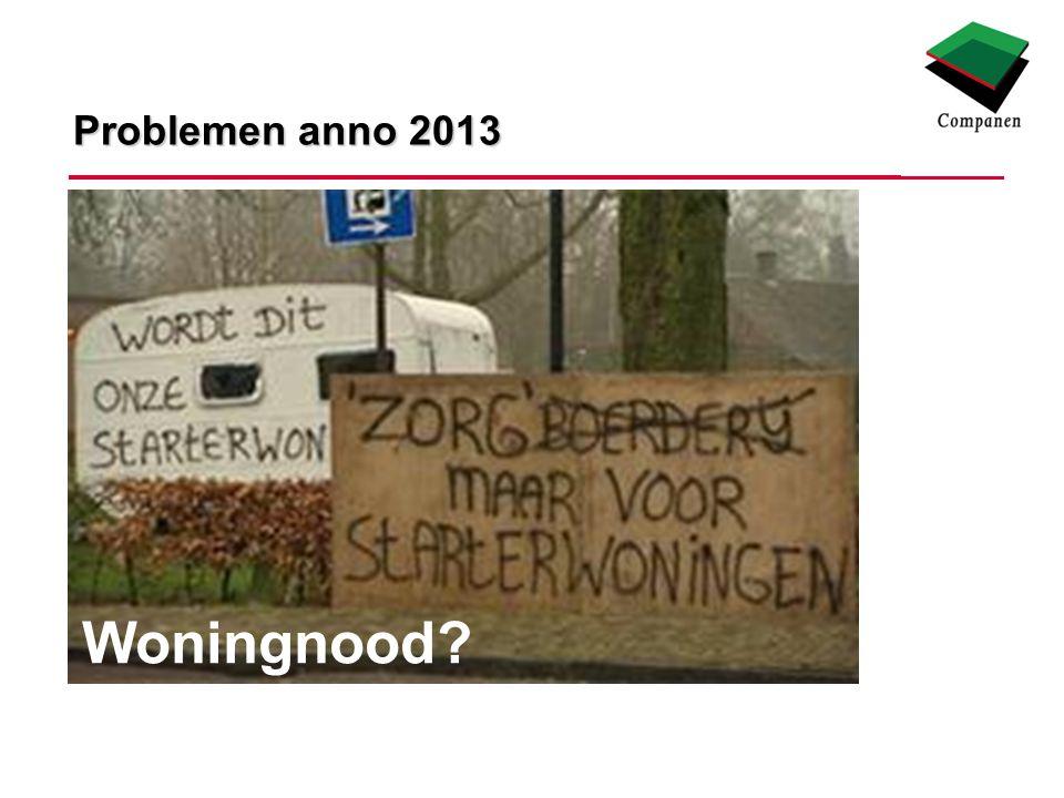 Problemen anno 2013 Woningnood