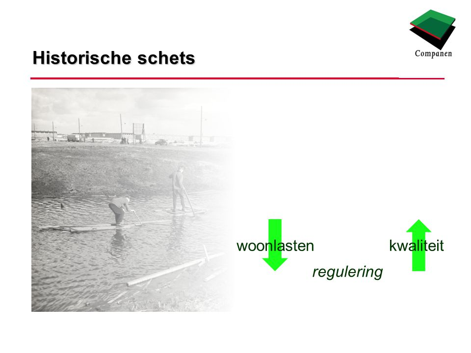 Historische schets woonlastenkwaliteit regulering