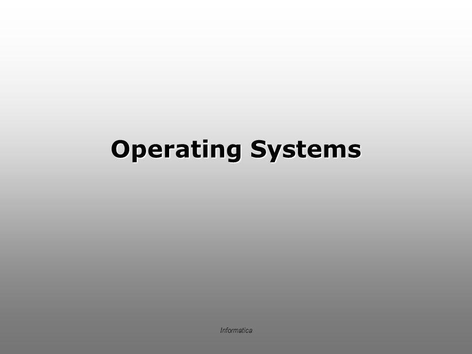 Informatica Operating Systems