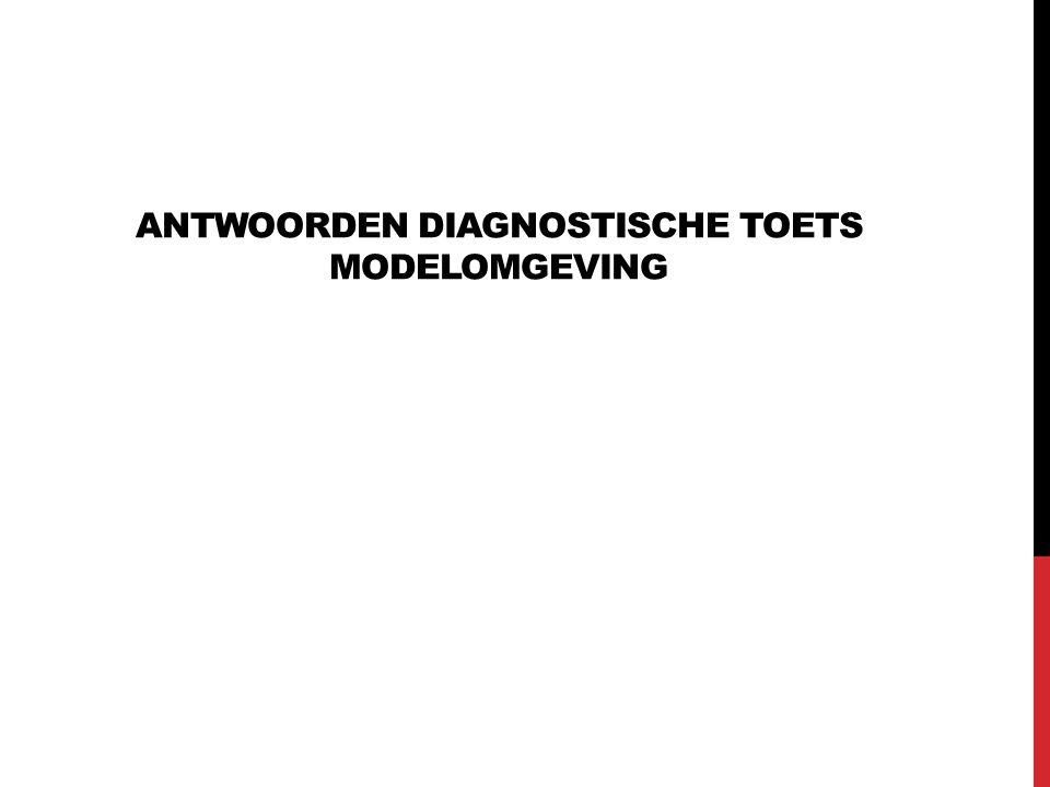 ANTWOORDEN DIAGNOSTISCHE TOETS MODELOMGEVING