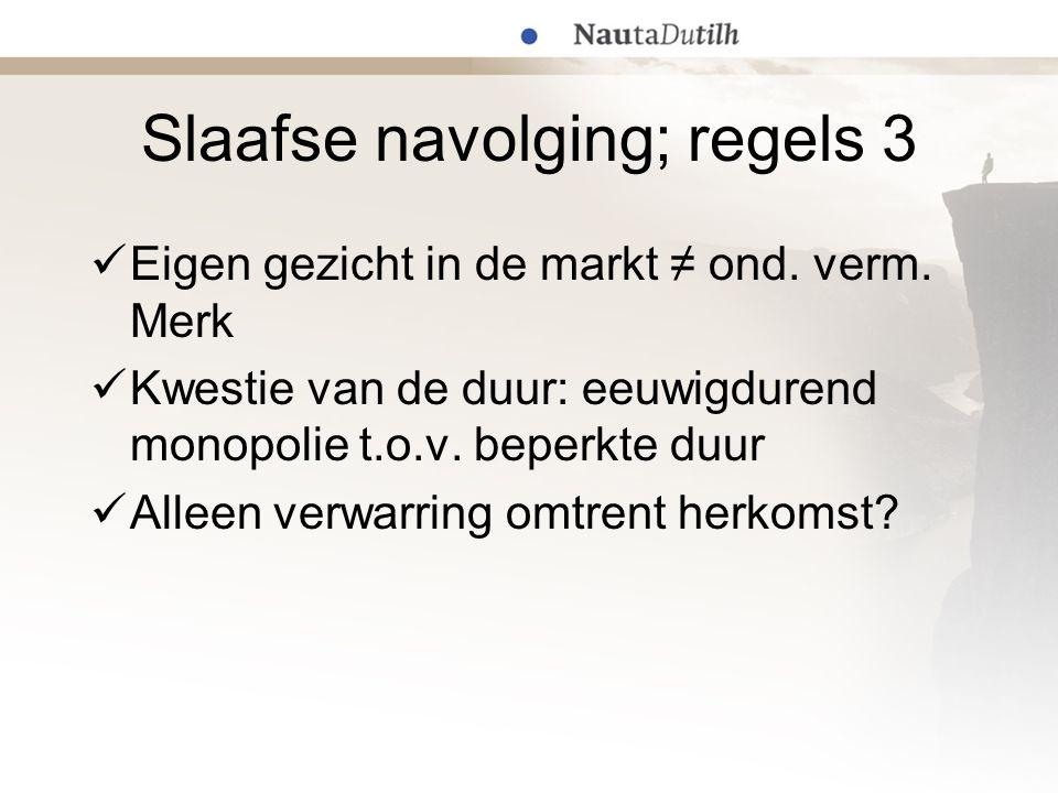 Stelling I: Merkenrecht HvJ in Philips/Remington tegenstrijdig Vrijheid concurrentie ↔ apparaatgerichte leer Technische uitzondering strikt interpreteren