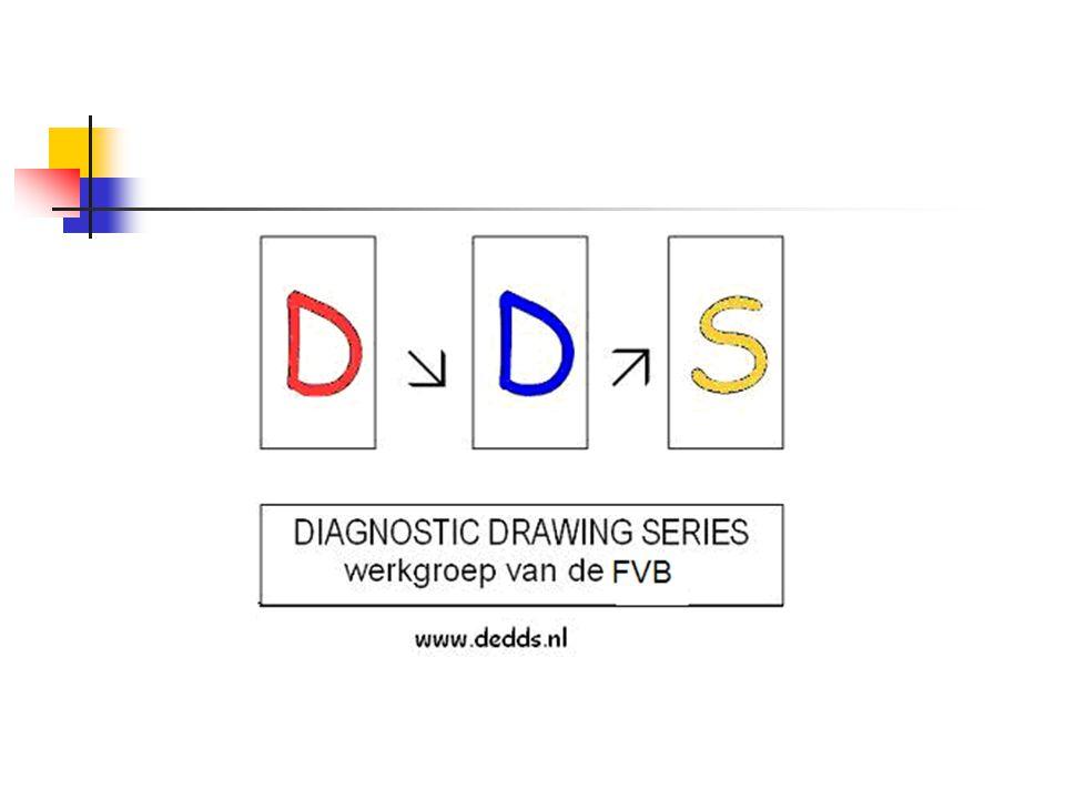 Drie verschillende tekeningen Een vrije opdracht maak een tekening met behulp van deze materialen Een gestructureerde opdracht teken een boom Een opdracht gericht op het affectieve maak een tekening van hoe je je nu voelt met behulp van vormen, lijnen en kleuren
