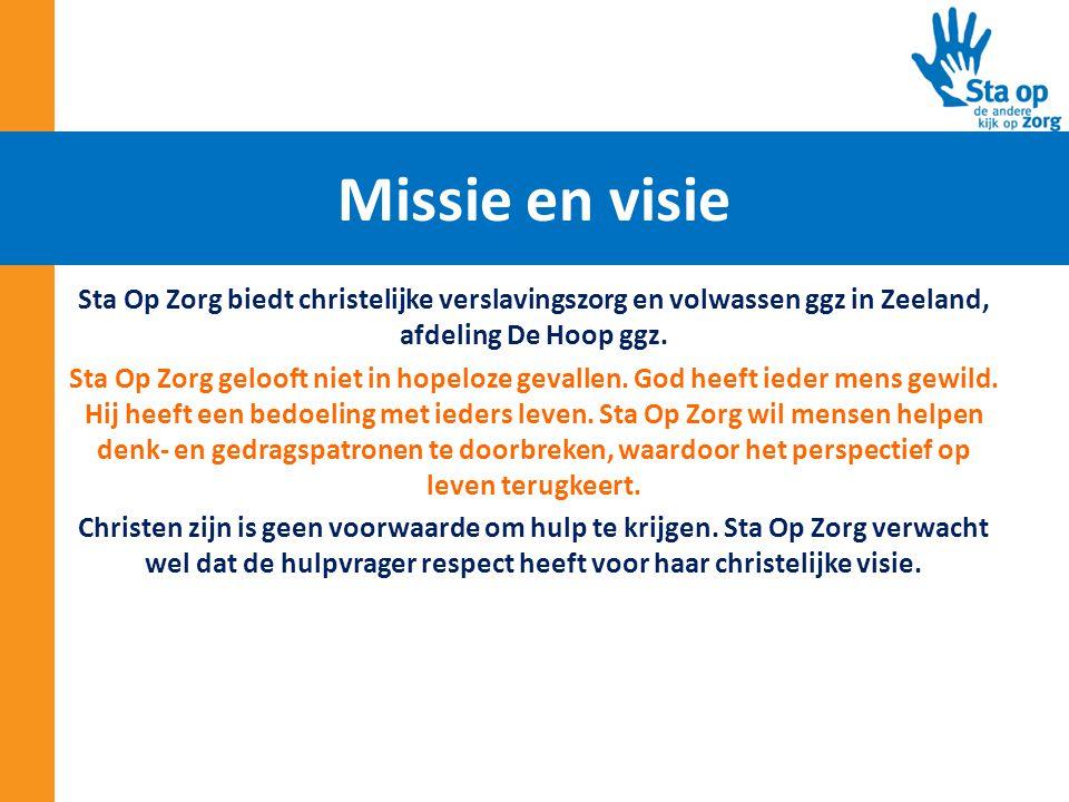 Sta Op Zorg biedt christelijke verslavingszorg en volwassen ggz in Zeeland, afdeling De Hoop ggz. Sta Op Zorg gelooft niet in hopeloze gevallen. God h