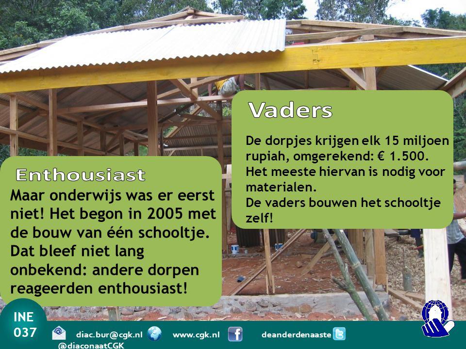 Maar onderwijs was er eerst niet! Het begon in 2005 met de bouw van één schooltje. Dat bleef niet lang onbekend: andere dorpen reageerden enthousiast!