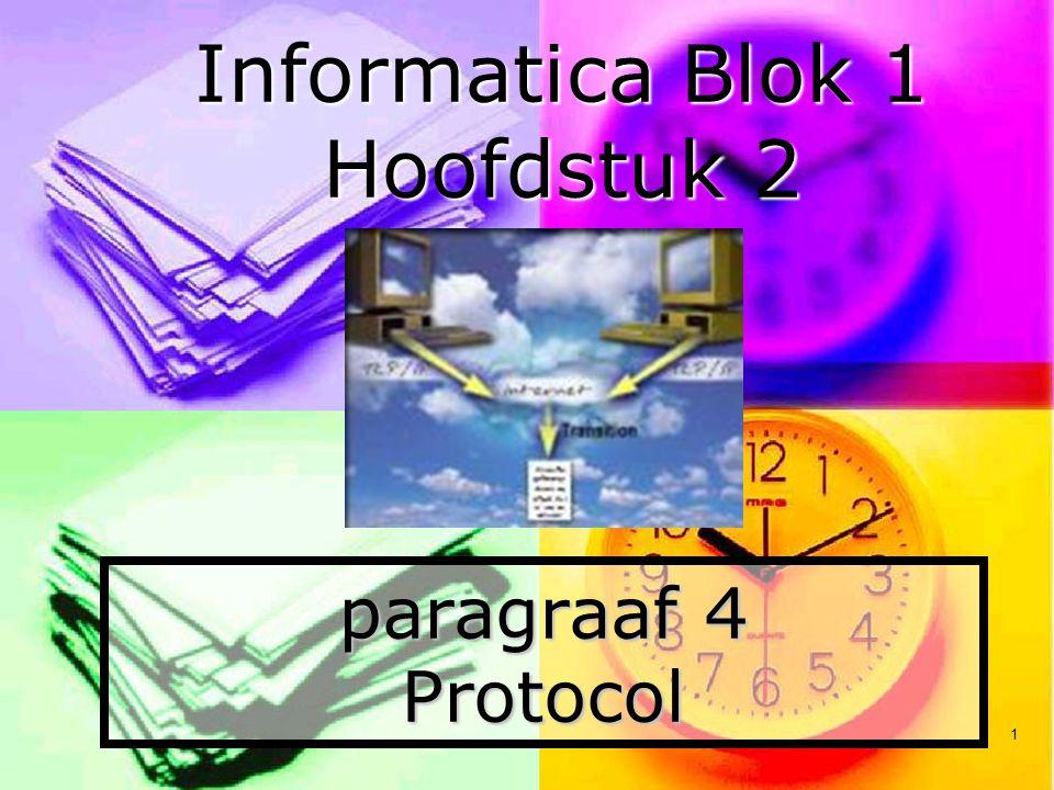 1 paragraaf 4 Protocol Informatica Blok 1 Hoofdstuk 2