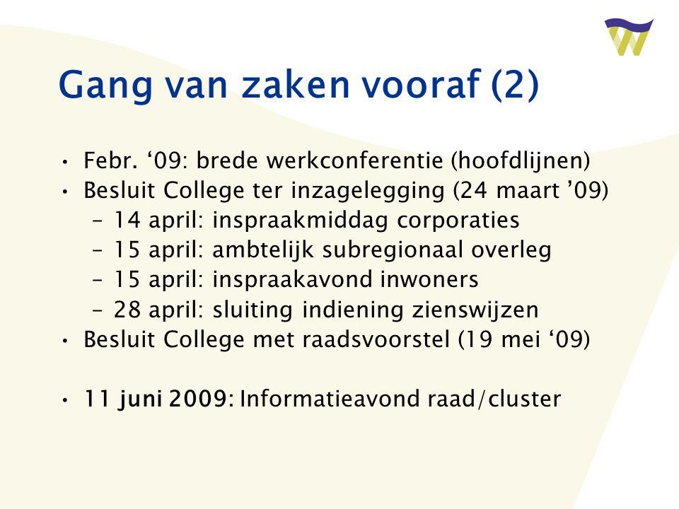 Gang van zaken vooraf (2) Febr.