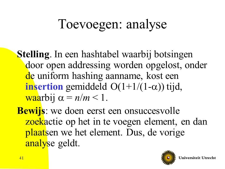 41 Toevoegen: analyse Stelling.