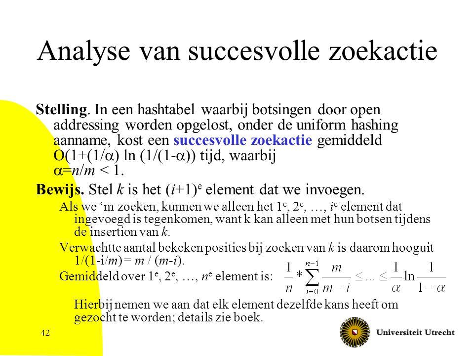 42 Analyse van succesvolle zoekactie Stelling.