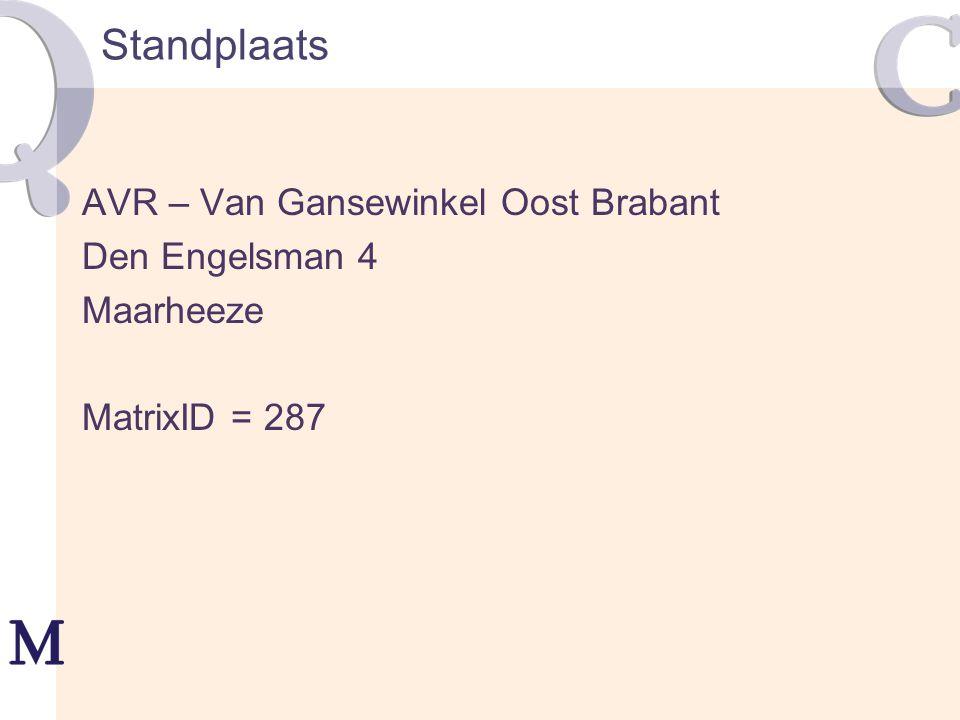 Standplaats AVR – Van Gansewinkel Oost Brabant Den Engelsman 4 Maarheeze MatrixID = 287