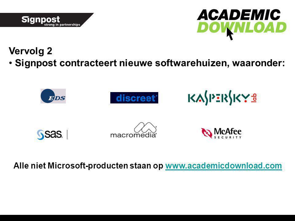 Vervolg 2 Signpost contracteert nieuwe softwarehuizen, waaronder: Alle niet Microsoft-producten staan op www.academicdownload.comwww.academicdownload.
