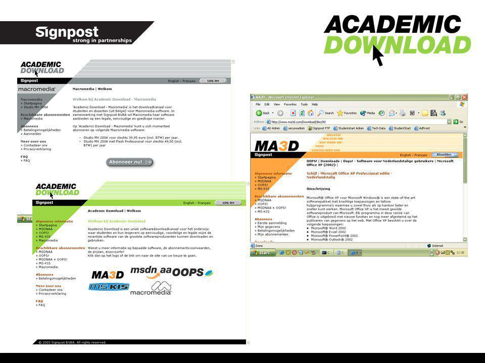 Overzicht producten: OOPS.(Office 2003, Windows XP Pro, Encarta, VS.NET) OOPS.