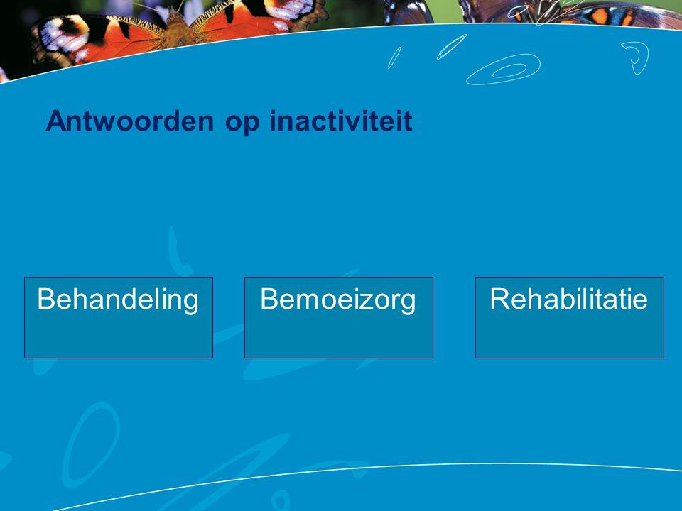 Antwoorden op inactiviteit BehandelingRehabilitatieBemoeizorg