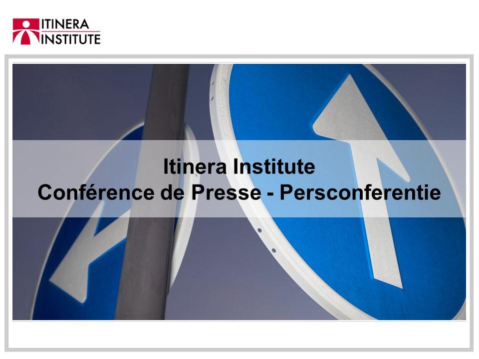 Itinera Institute Conférence de Presse - Persconferentie