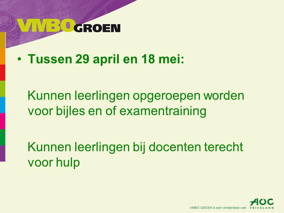 18 tm 27 mei: CSE Leerlingen krijgen rooster met datum, tijd en wat mee moet!