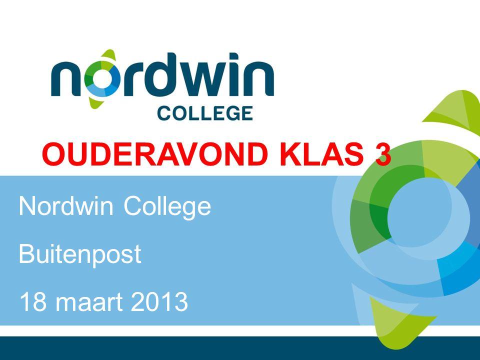 OUDERAVOND KLAS 3 Nordwin College Buitenpost 18 maart 2013