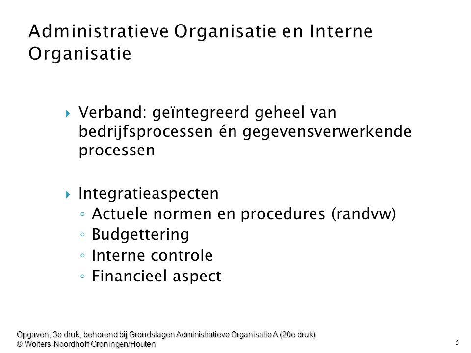 5  Verband: geïntegreerd geheel van bedrijfsprocessen én gegevensverwerkende processen  Integratieaspecten ◦ Actuele normen en procedures (randvw) ◦